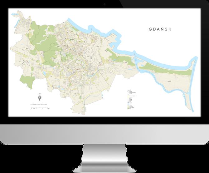 Uproszczony plan miasta gdańska
