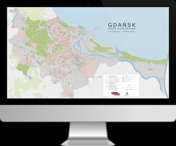 Mapa rowerowa Gdańska